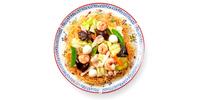 Thai Curry mit Hühnchen und Reis