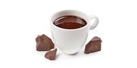Heiße Schokolade mit Sahnehaube