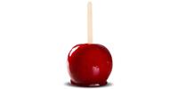 Liebesapfel Paradiesapfel (Apfel in Zuckerglasur)