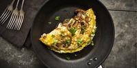 Tomaten-Pilz-Omelette