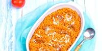 Kritharaki-Salat mit Hack und Paprika