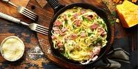Spaghetti Carbonara aus einem Topf