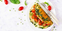 Omelette mit Paprika und Frühlingszwiebel