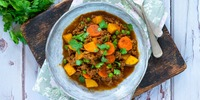 Curry mit Hack und Kohl