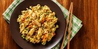 Hähnchen-Reis-Pfanne aus einem Topf