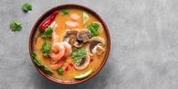 Garnelen-Möhren-Kokosmilch Suppe nach asiatischer Art