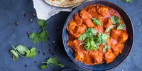 Hähnchen-Curry mit Spinat