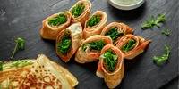Eier-Wrap mit Avocado und Lachs