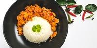 Reis mit Thunfisch-Frischkäse-Sauce