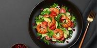 Chinakohl-Salat mit Garnelen