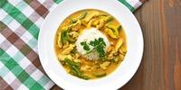 Kokos-Curry-Pfanne mit Reis und Putenbrust