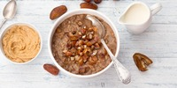 Schoko-Erdnussbutter Porridge