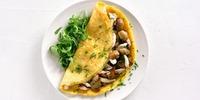 Hähnchen-Omelette mit Gemüse