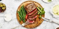 Steak mit grünen Bohnen