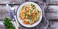 Sauerkrautsalat mit Fruchtdressing