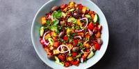 Buntes Gemüse mit Sojageschnetzeltem