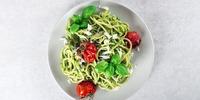Rucola-Linsen-Pasta mit Pesto