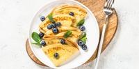 Blaubeer-Buchweizen-Pfannkuchen