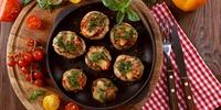 Gefüllter Portobello mit Gorgonzola, Walnüssen und Birnen