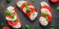 Vollkorn-Toast Caprese